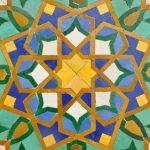 Oriental mosaic decoration in Casablanca, Morocco